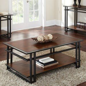 Steve Silver Micah Rectangle Cherry Wood Coffee Table Furniture