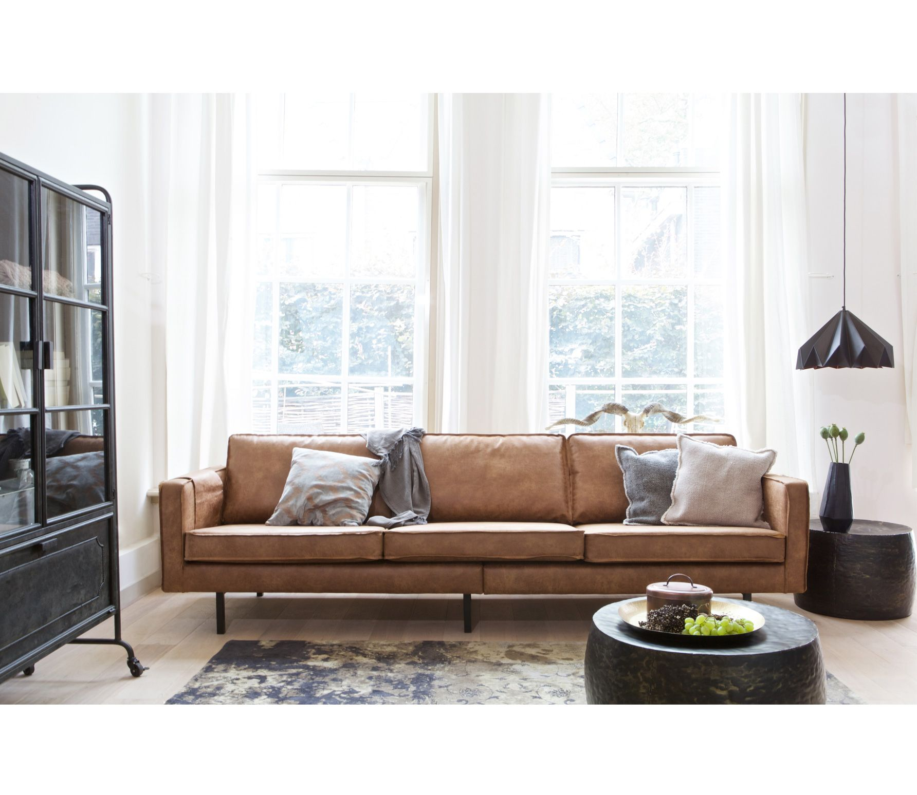 Design Bank 3 Zits.Voorbeeld Van Rodeo Bank 3 Zits Cognac Bepurehome Interieur Sofa