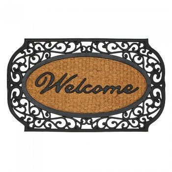 Frill Framed Welcome Entry Mat Products Pinterest