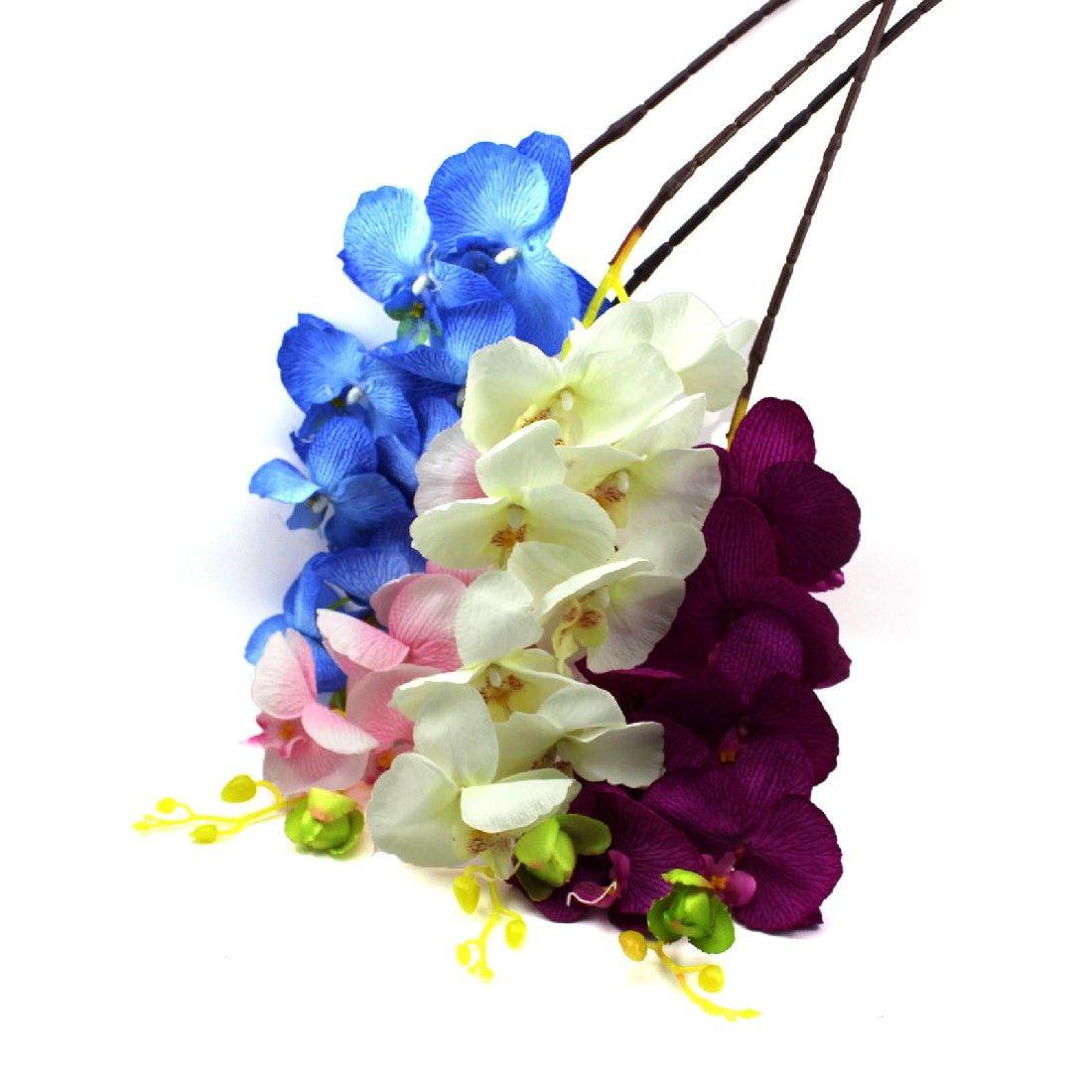2016 new 8pcs artificial fake flower butterfly orchid silk flower 2016 new 8pcs artificial fake flower butterfly orchid silk flower home wedding party decor phalaenopsis flower izmirmasajfo