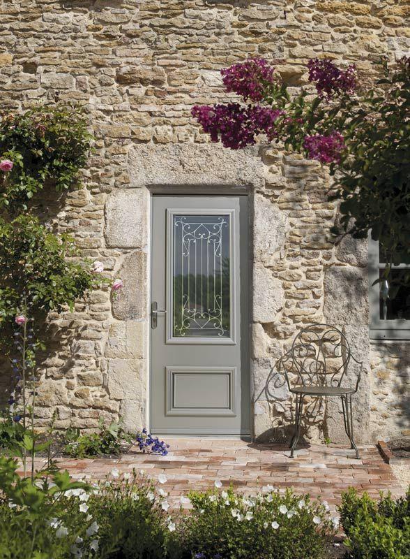 Porte d\u0027entrée Aluminium Zilten modèle Cormelles Maison parnans - Exemple De Facade De Maison