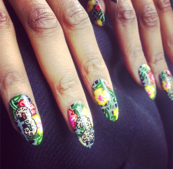 WAH gal Ellie\'s incredible nails for Jeremy Scott x Adidas UK Rough ...