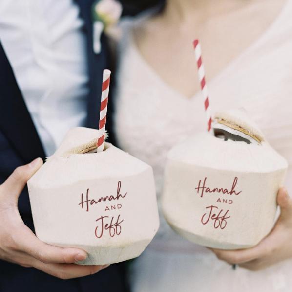 Customized Fresh Coconuts l Unique Wedding Ideas | Coconut, Unique  weddings, Baby birthday