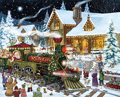 Santa\u0027s Express Christmas Jigsaw Puzzle 1000 Piece Jigsaws