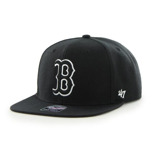 bbc83031026b5 Boston Red Sox Sure Shot Black 47 Brand Adjustable Hat