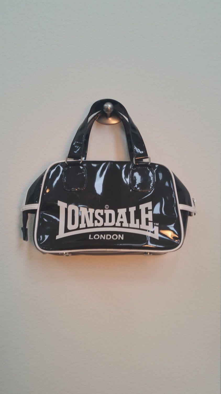 Lonsdale London Black Vinyl Handbag. Purse. Bag. by ShopBoAndMo on Etsy 99bad9f10f974