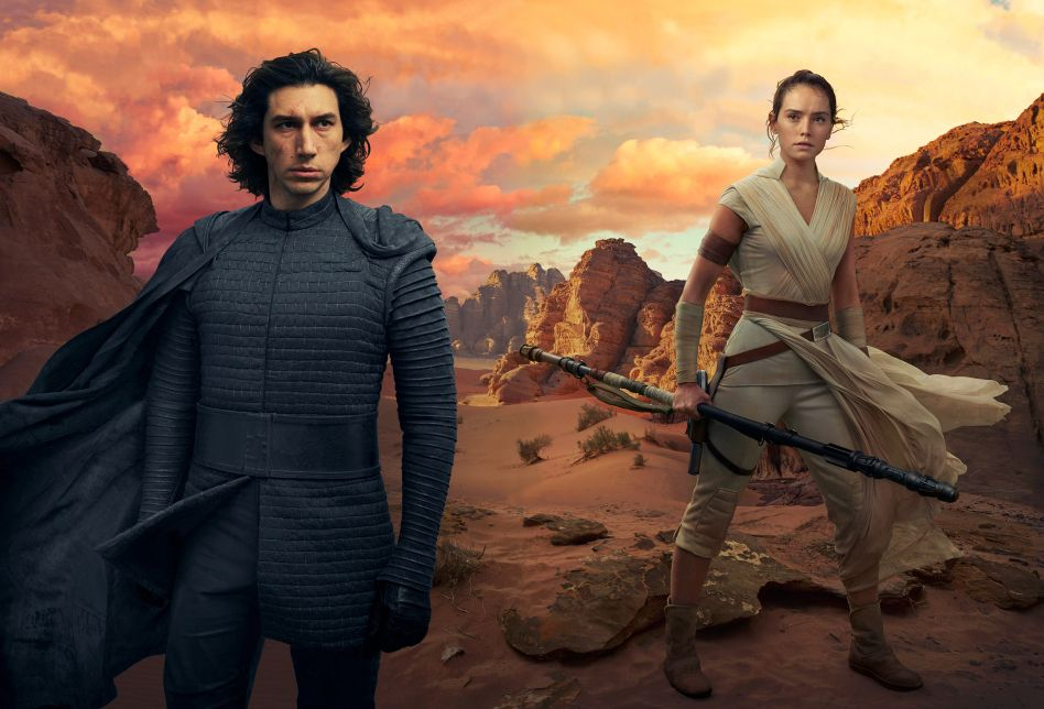 Star Wars The Rise Of Skywalker Textless Vanity Fair Kylo Ren And Rey Cover Combined Rey Star Wars Star Wars Episodes Star Wars Wallpaper
