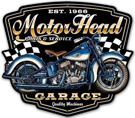 plaque m tal d co moto motorhead garage objets d coratifs r tro pour homme et femme. Black Bedroom Furniture Sets. Home Design Ideas