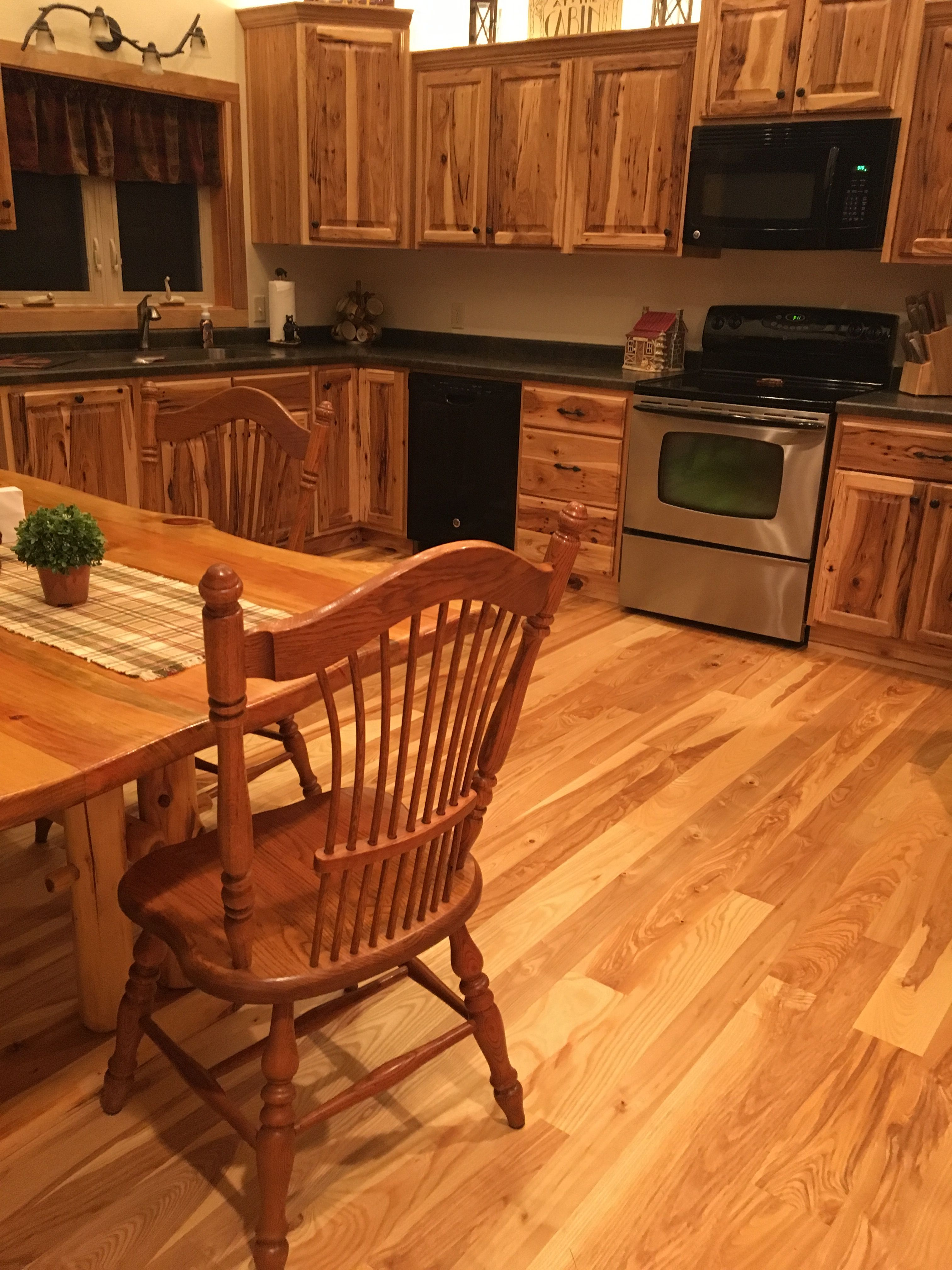 This Beautiful Ash Floor Pairs Perfectly With The Hickory Cabinets