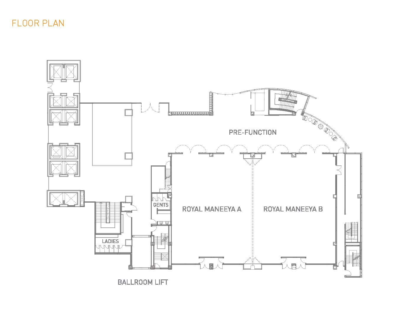 W Hotel Mega Room Floor Plan F