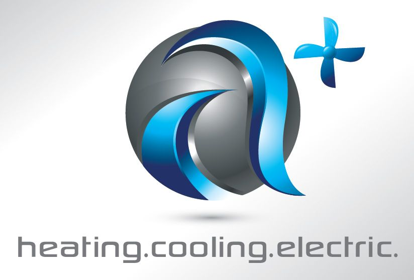 Logo For Heating Cooling Electric 3d Logo Design Logo Design