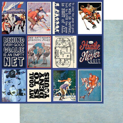 Authentique Paper All-Star Collection Hockey Collection Pack