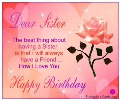 Images Of Birthday Cards For Sister