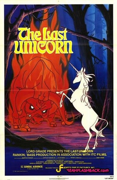the last unicorn!! Oh my gosh, I don't even remember what happens but I was in love with this when I was little
