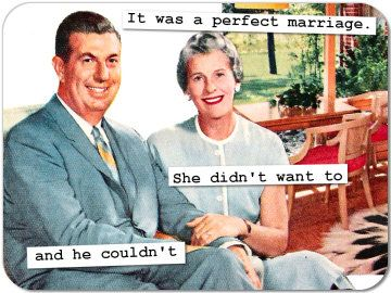 """Photo of """"It was the perfect marriage, She didn't want to and he couldn't"""""""