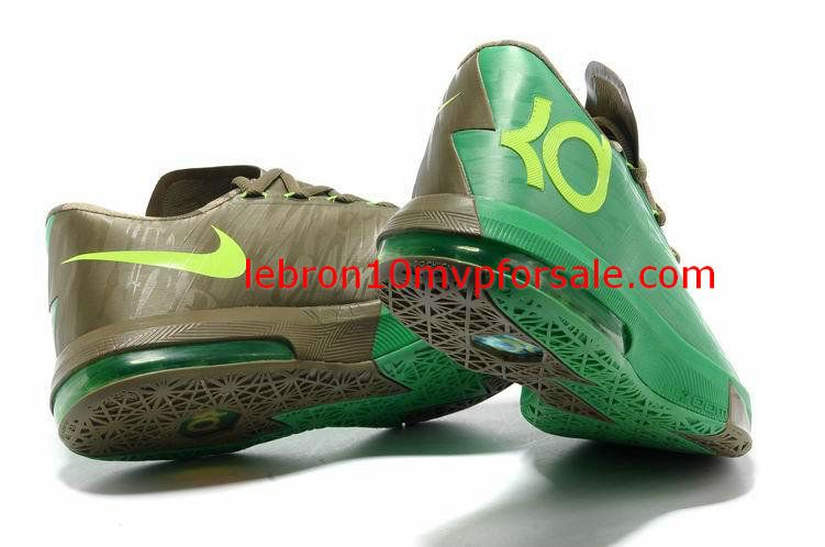 a175d593aa92 Nike KD VI Bamboo Apple Green Brown Bronze Tongue 599424 301 ...
