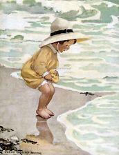 Toddler by the Sea 8 x 10 Print - Repro Jessie Wilcox Smith
