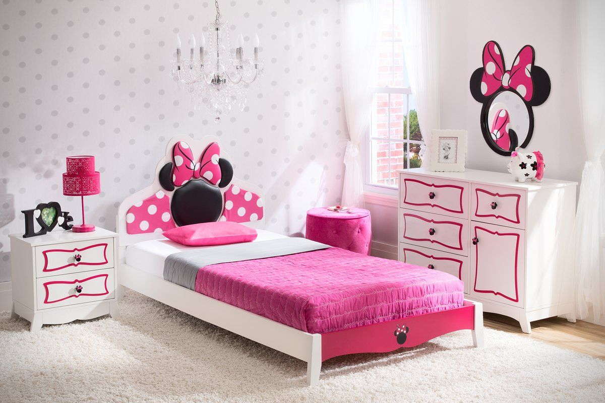 Found It At Wayfair   Disney Minnie Mouse Panel 4 Piece Bedroom Set