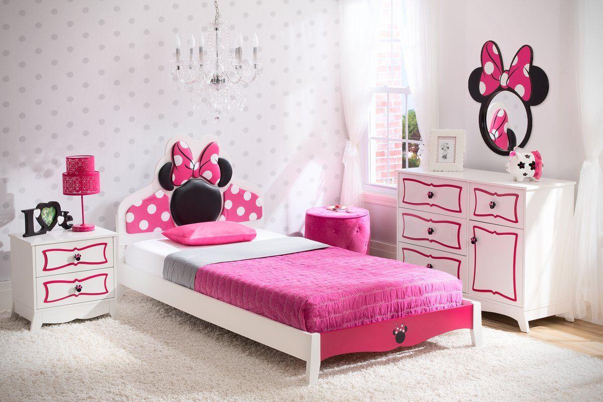Scrivania In Legno Minnie Mouse : Disney minnie mouse panel piece bedroom set affiliate home