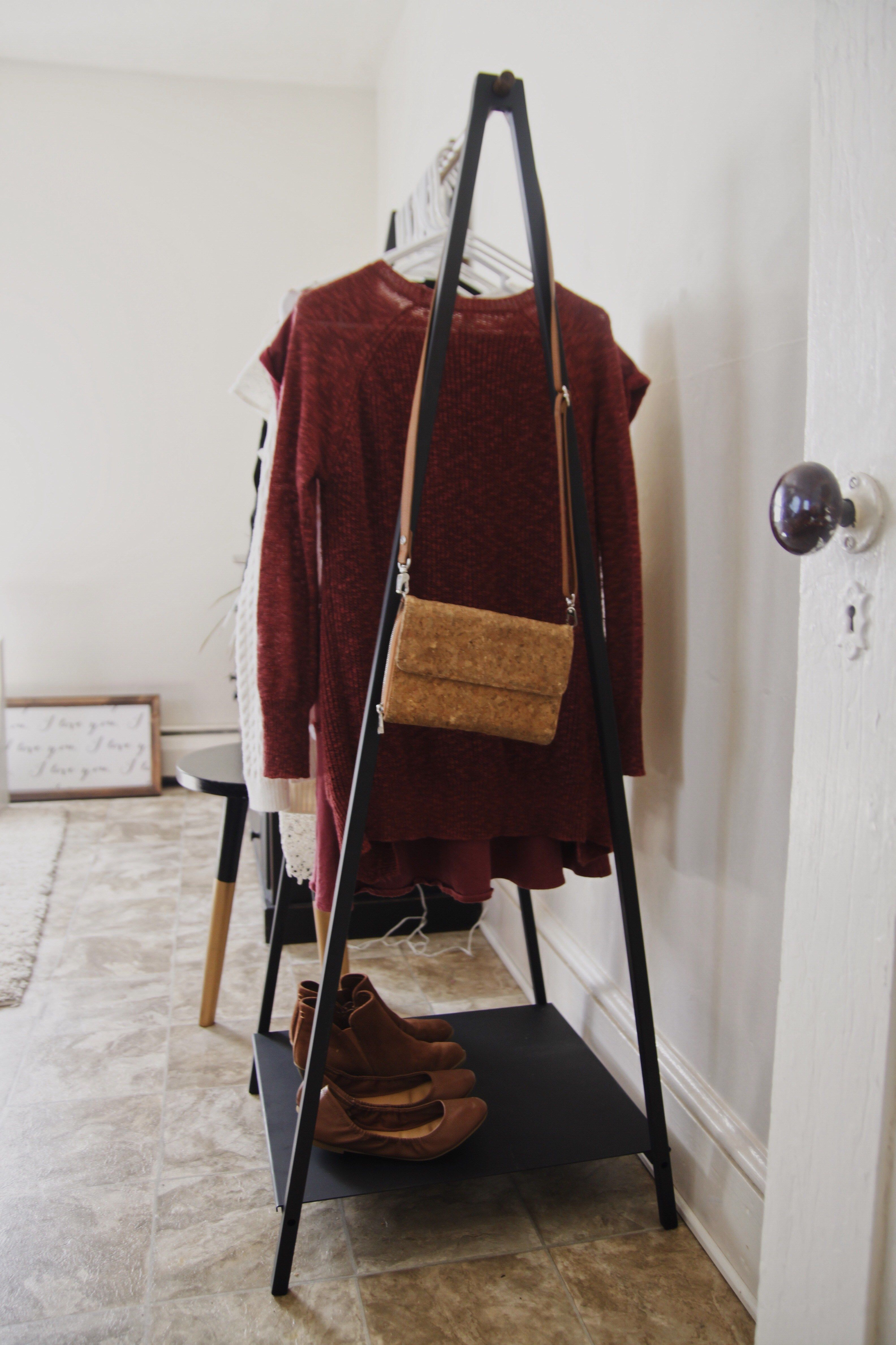 Modern Clothes Rack (Minimalist)  The Amish Next Door