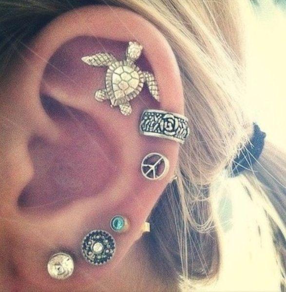 Ear Pierced All The Way Up Cute Piercings Ear Piercings