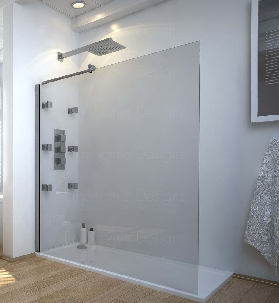 1200 x900 Walk in 8mm Glass Wetroom Shower Cubicle with Tray and ...