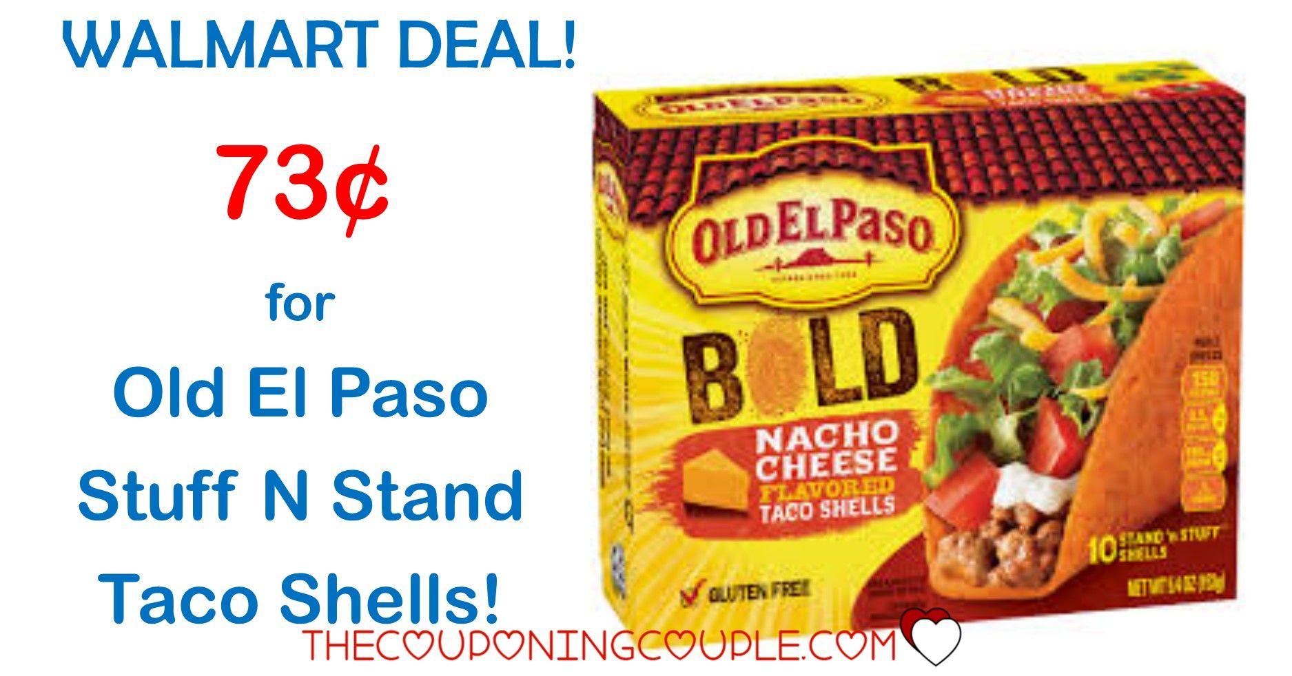 Hot Walmart Deal Old El Paso Stuff N Stand Taco Shells Only 0 73 Taco Stuffed Shells Walmart Deals El Paso Taco