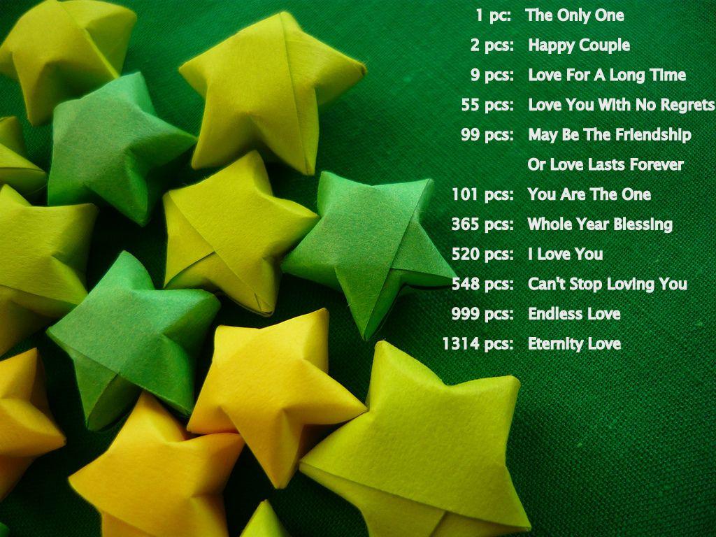 Omega stars, lucky stars and Tomoko fuse origami | 768x1024