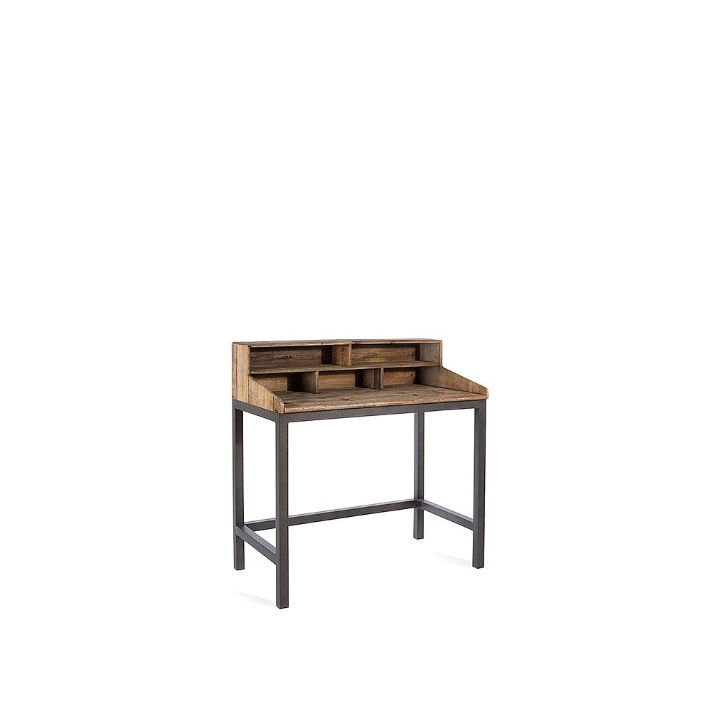 Handcrafted from reclaimed pine and antiqued steel or modular baxter desk is a great way to introduce the industrial trend into your home