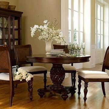 Chris Madden J C Penneys Pedestal Dining Table And 4 Chairs