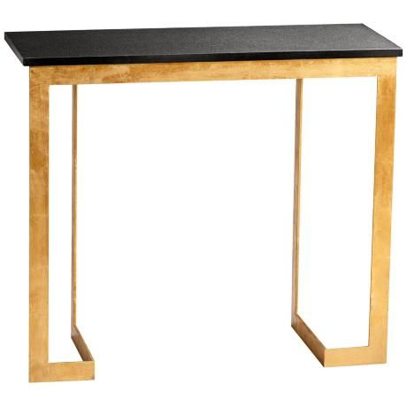 black and gold console table gold and black finish iron legs with granite top