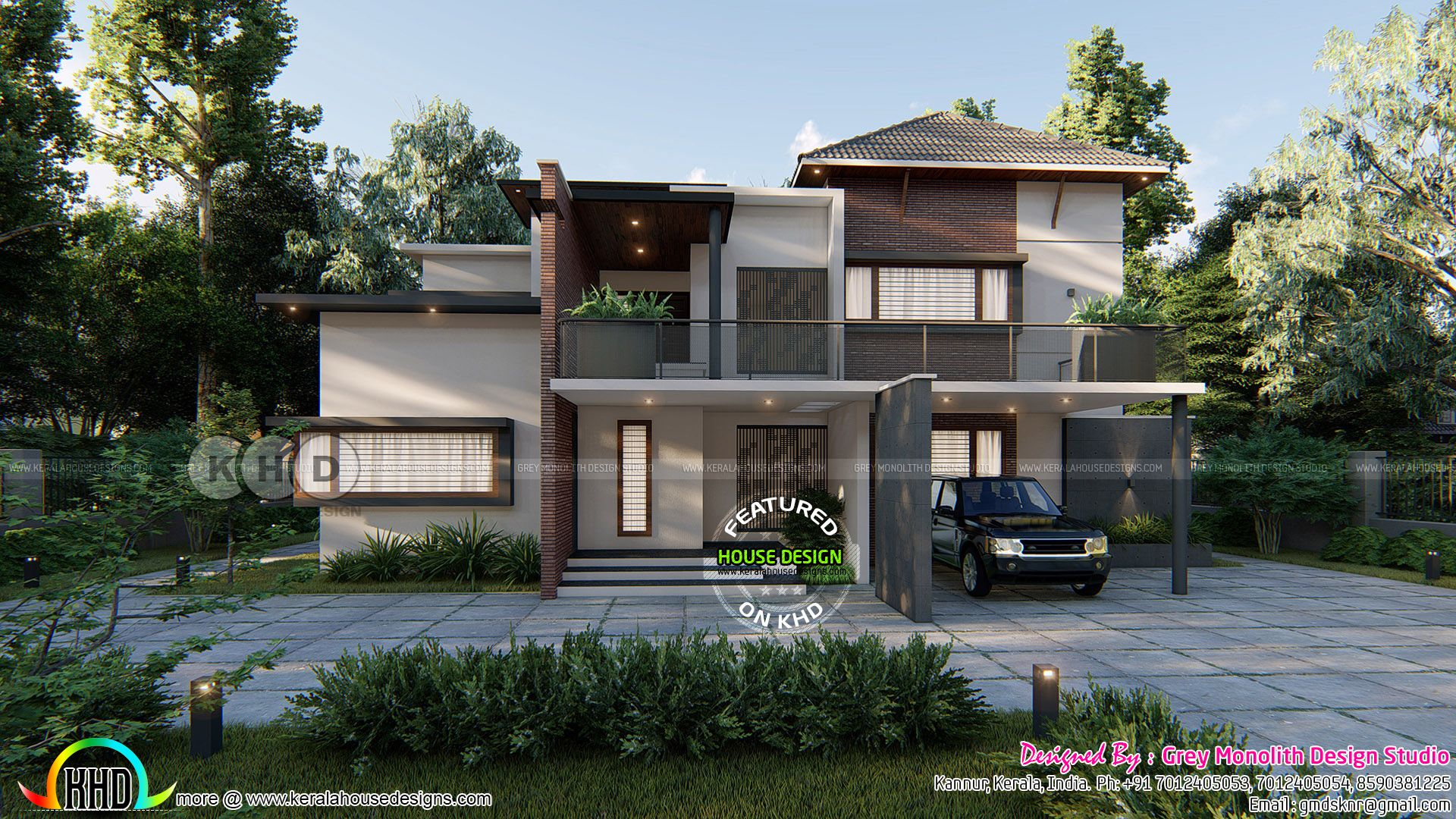 Front and side elevation of beautiful modern home also house rh pinterest