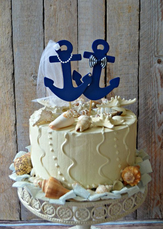 Anchors Away Wedding Cake Topper Anchors Boat Wedding Cake Etsy Wedding Cake Topper Nautical Anchor Wedding Cake Topper Anchor Wedding Cake