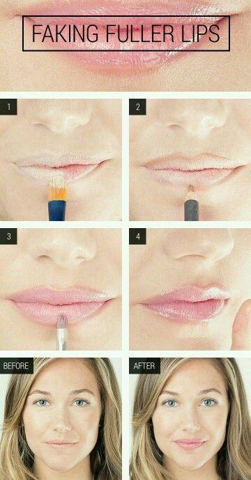Tips Fingiendo Labios Rellenos Trucos De Belleza Delineador De Labios Tips Belleza