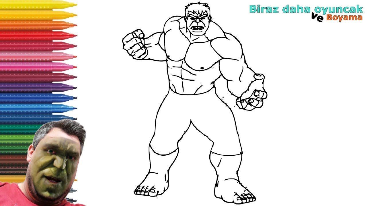 Hulk Boyama Sayfasi Boyama Videolari Hulk Boyama Kitaplari Painting