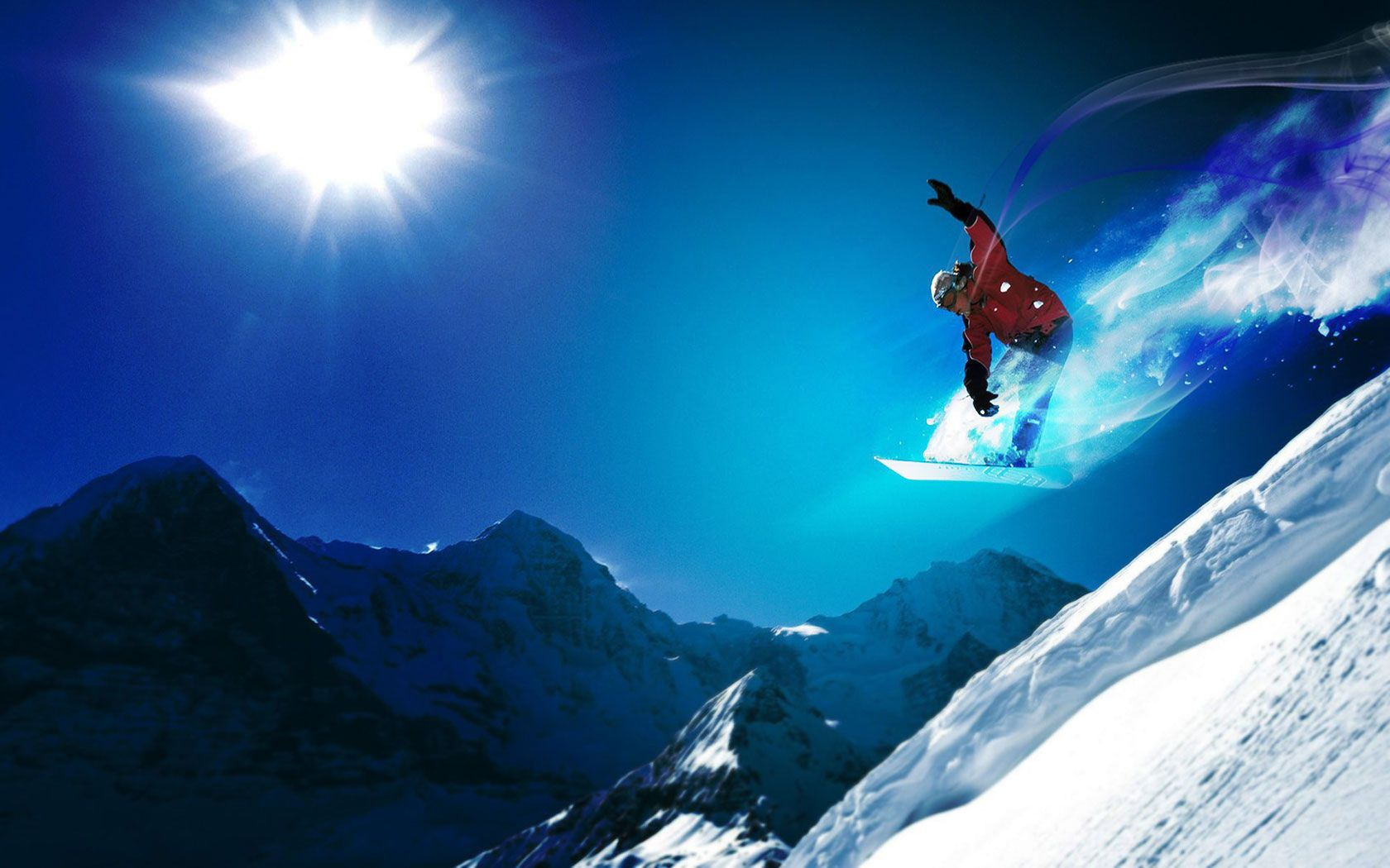 Snowboard Jump Hd Desktop Wallpaper Snowboarding