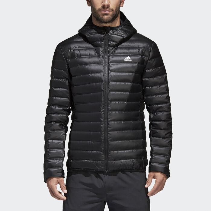 Varilite Hooded Down Jacket Black Mens | Down jacket, Blue