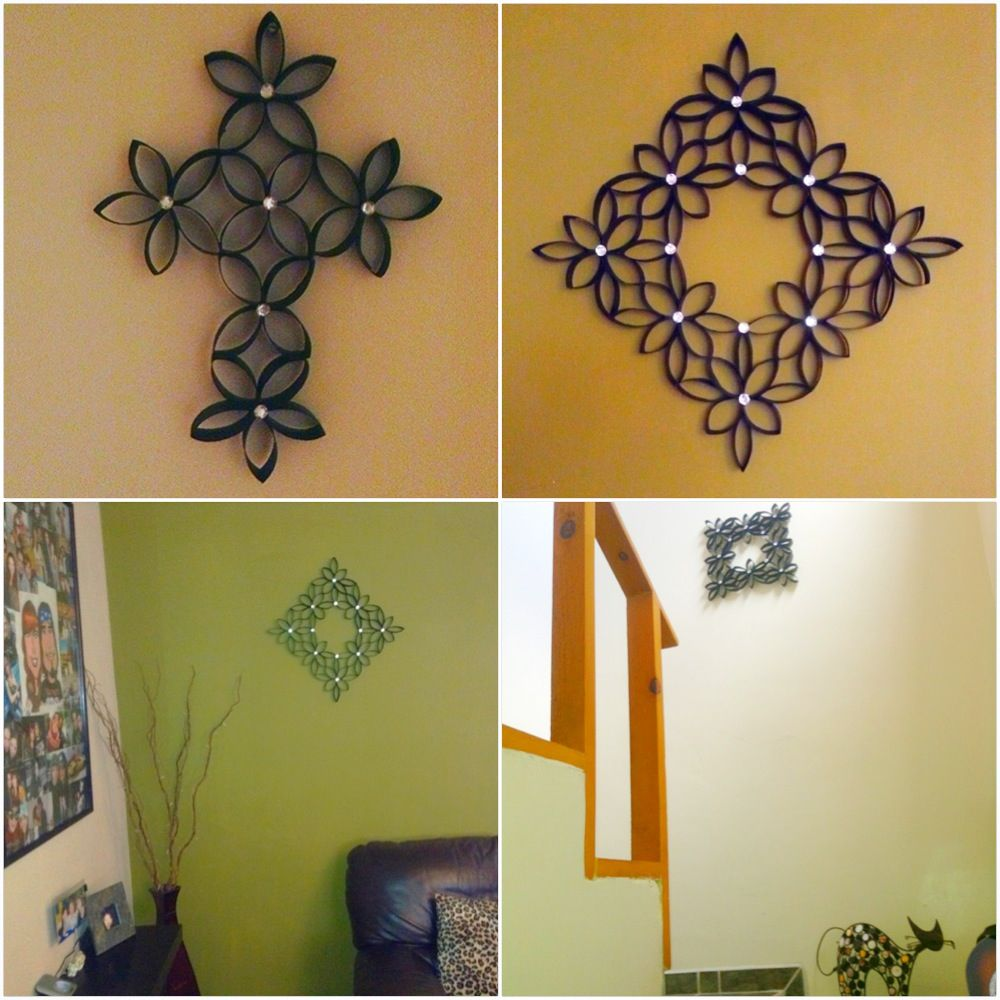 DIY to recycle Toilet paper rolls, wall decor Hazlo tu mismo ...