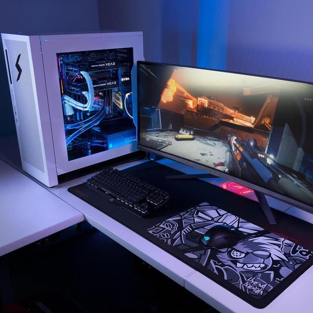 Gifted Gaming Computer Room Gamingphotography Computergraphic Gamingcomputersetuptech Gaming Desk Setup Video Game Rooms Computer Setup