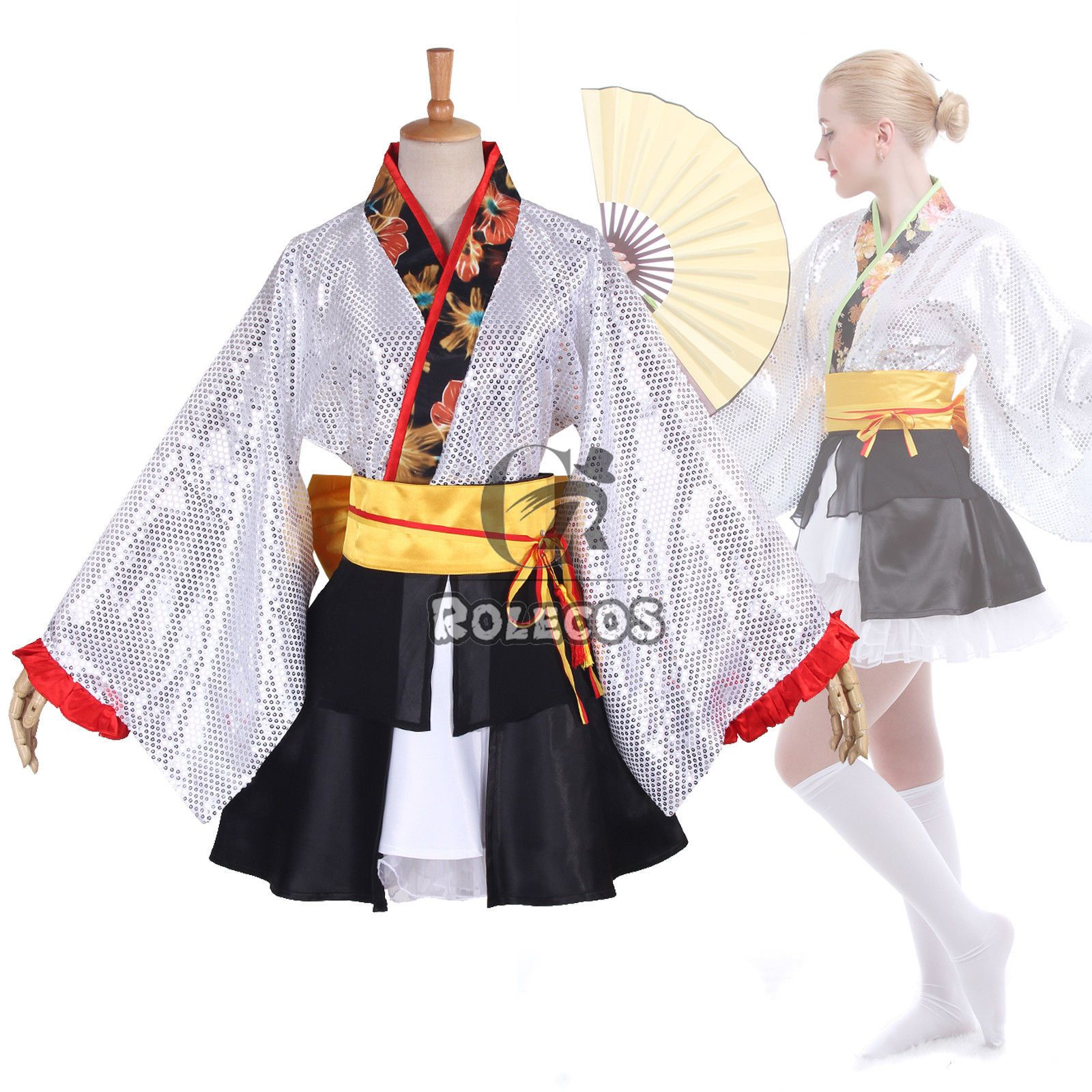 Love Live 9 Roles Kaguya No Shiro De Odoritai Kimono Cosplay Costume Dress