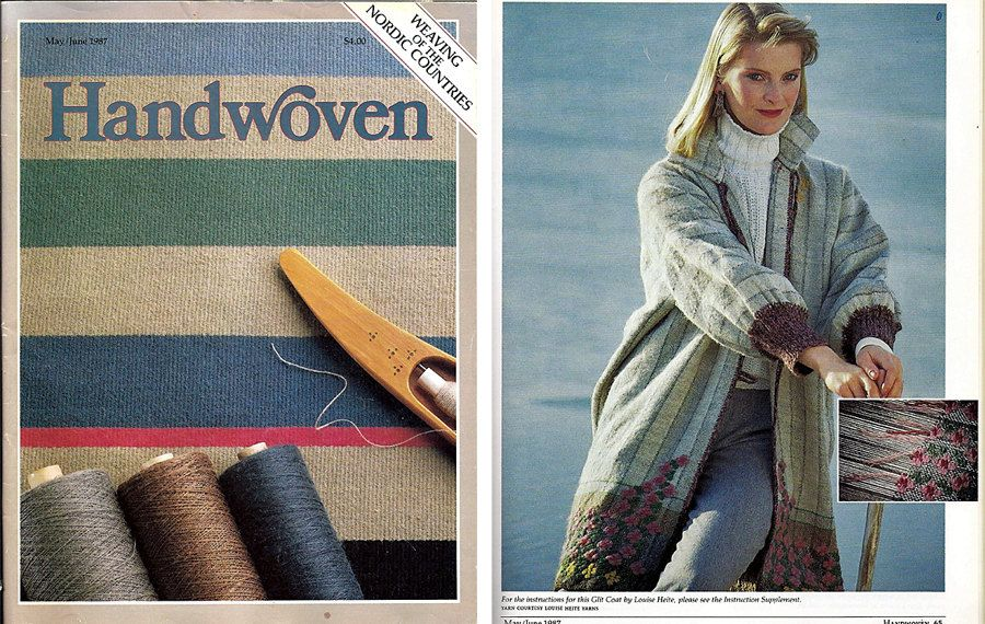 Handwoven Weaving of The Nordic Countries Magazine and Pattern Book May/June…