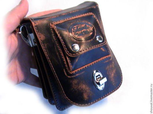 f84f59a558fc Мужские сумки ручной работы. Ярмарка Мастеров - ручная работа. Купить  Поясная сумочка.(