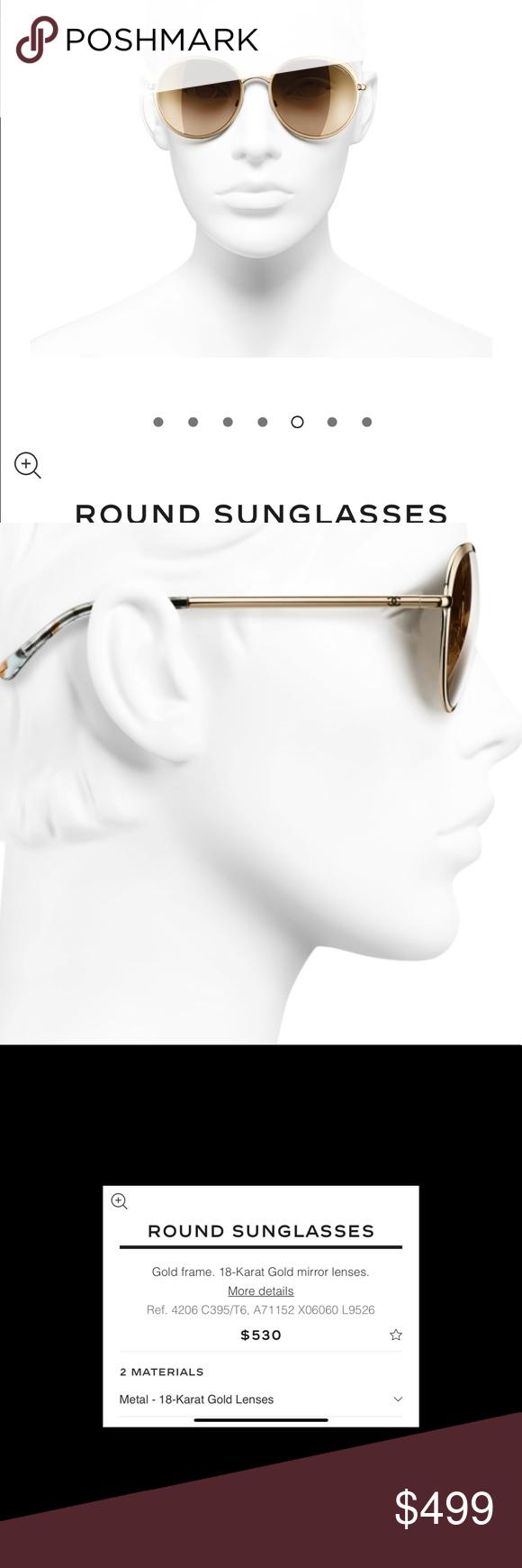 1318585e1c Chanel 4206 18kt gold sunglasses 🕶 Brand new   🔥🔥🔥- mirrored and fabulous  CHANEL Accessories Sunglasses