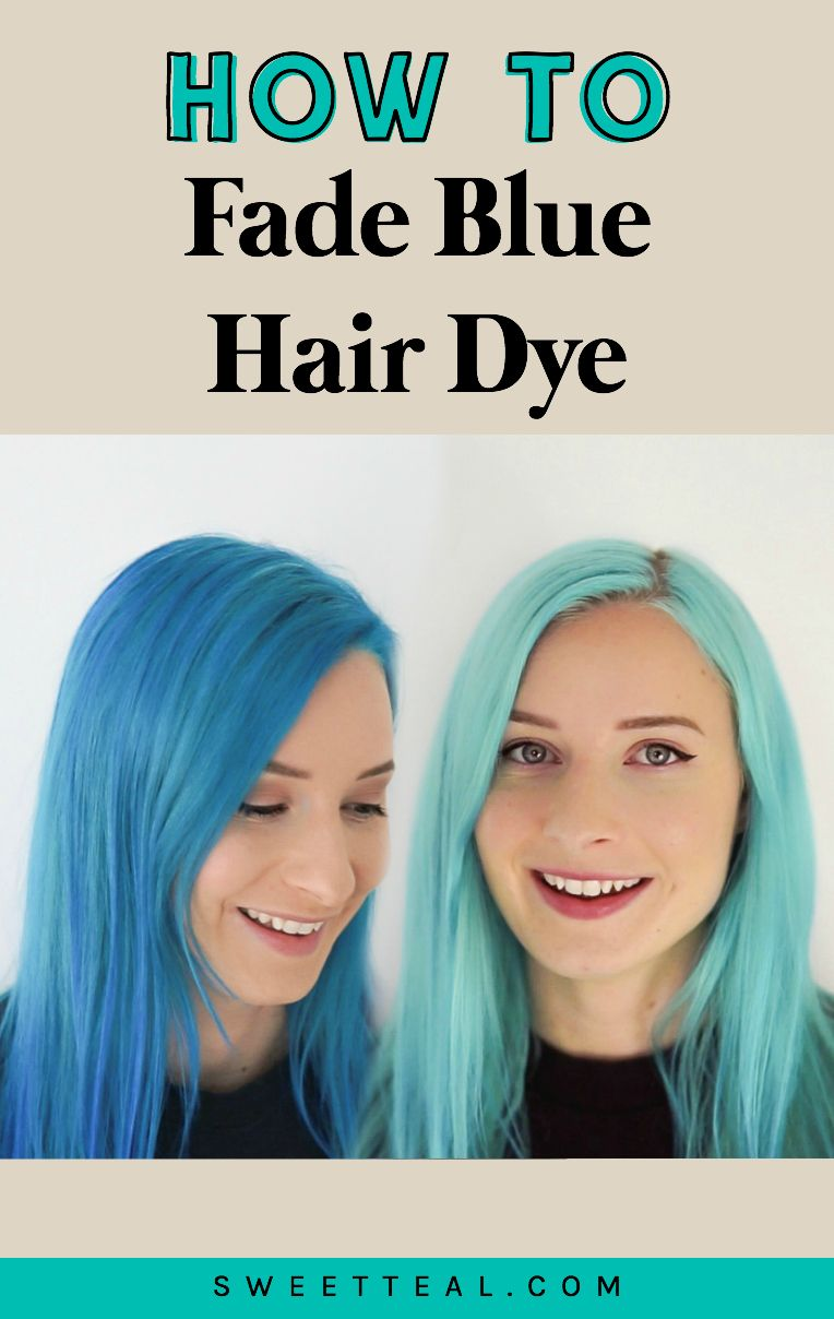 How To Fade Blue Hair Dye Or Lighten Hair At Home Faded Blue Hair Dyed Hair Blue Faded Hair