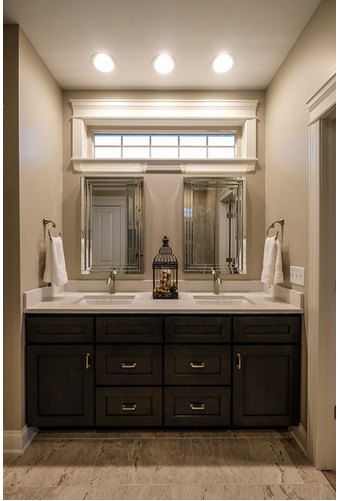 Window Above Bathroom Sinks Master Bathroom Bathroom Windows