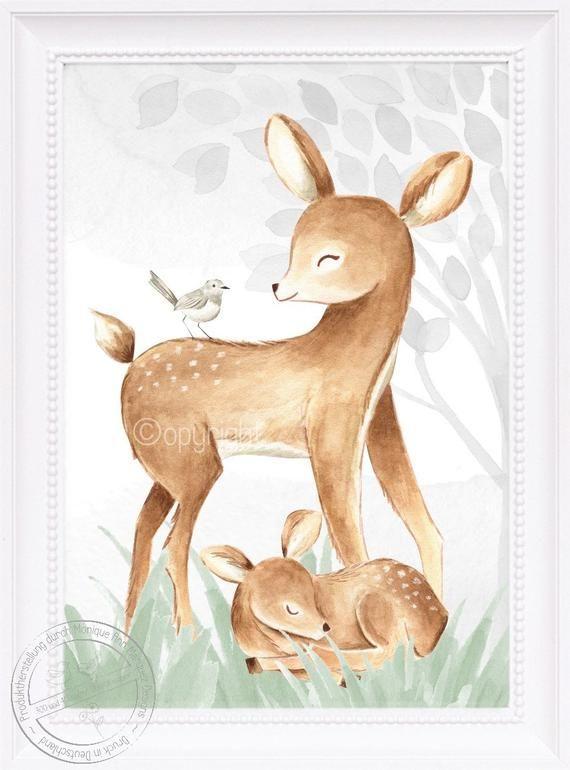 Babyzimmer Bilder Kinderzimmer Bilder Wald Tiere Fuchs ...