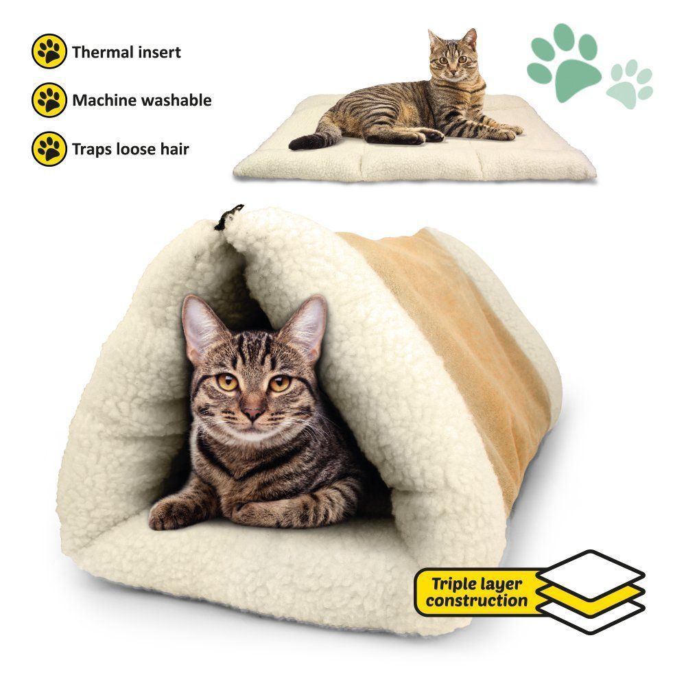 Cat Bed Snooze Tunnel And Mat For Cats Cats Dogs And Kittens For Travel You Can Get More Details Here Cat Beds And Furnitur Pet Beds Cat Cat Bed Pets Cats