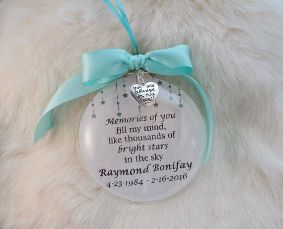 In Memory Ornament Memories Of You Fill My Mind Mother Father