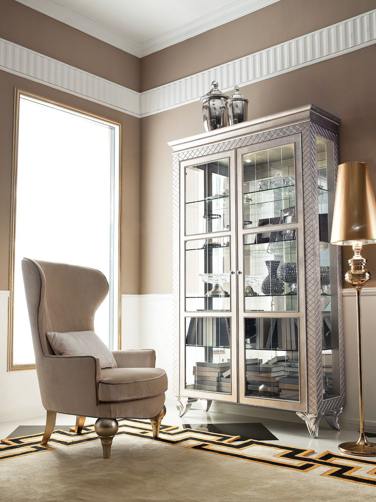 Best Modern China Cabinet Geneve Accent Chairs For Living 400 x 300