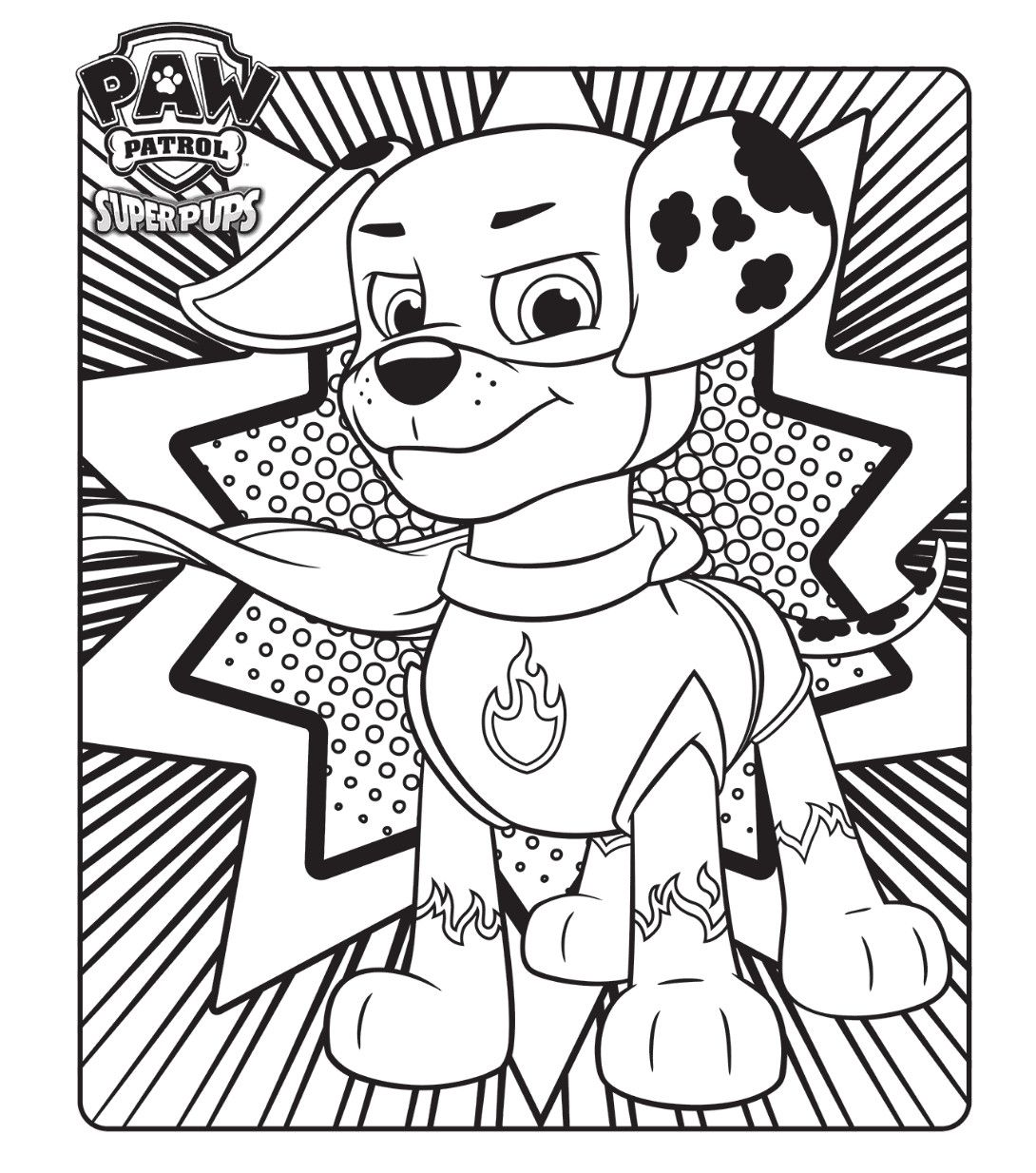 Paw Patrol Coloring Page Best Of Paw Patrol Super Pups Colouring
